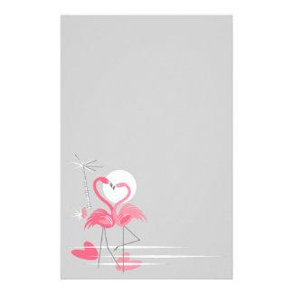 Flamingo Love Side stationery
