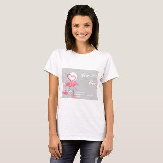 Flamingo Love Side Text t-shirt horizontal