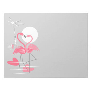 Flamingo Love Slim notepad horizontal
