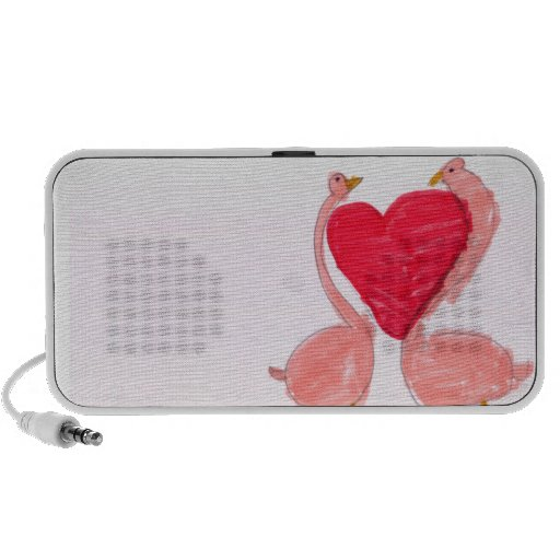 Flamingo Love Laptop Speakers
