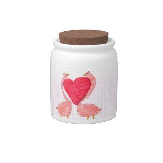Flamingo Love Candy Dish