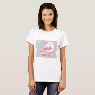 Flamingo Love t-shirt horizontal