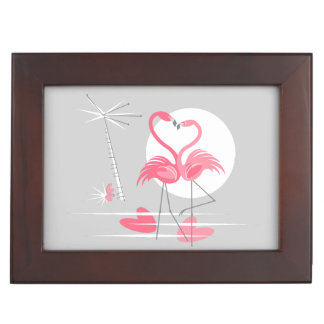 Flamingo Love Text keepsake box