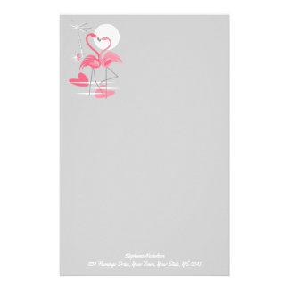 Flamingo Love Text stationery