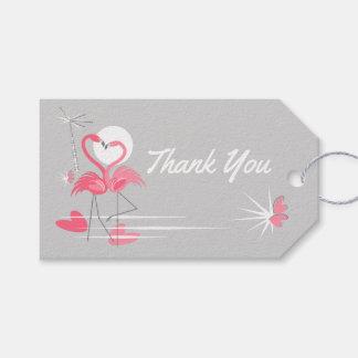 Flamingo Love Thank You text back grey landscape