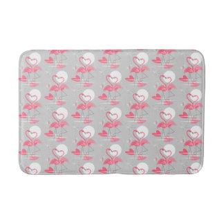 Flamingo Love Tiled bath mat