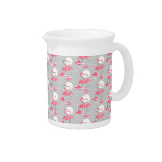 Flamingo Love Tiled pitcher