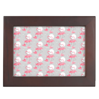 Flamingo Love Tiled Text keepsake box