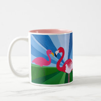 Flamingo Love? Two-Tone Mug
