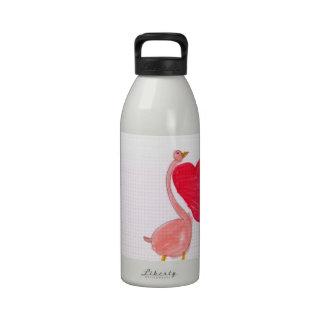 Flamingo Love Water Bottle