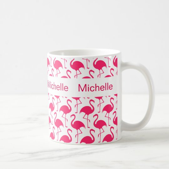 Flamingo Monogram Coffee Mugs