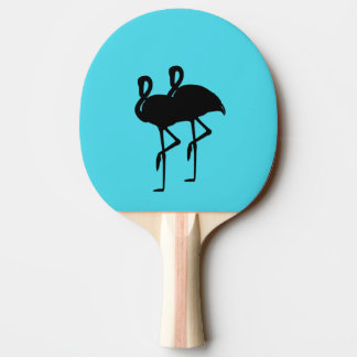 Flamingo on Aqua Ping Pong Paddle