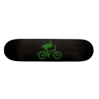Flamingo on Bicycle Silhouette 21.6 Cm Skateboard Deck