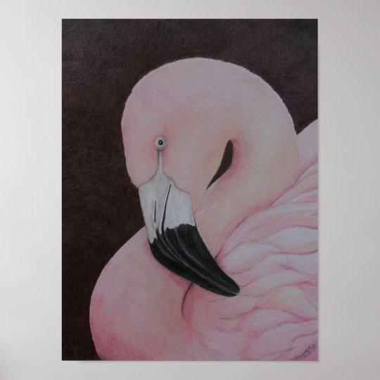 Flamingo Original Bird Art Print