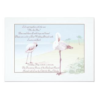 Flamingo Pair Invitation