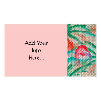 Flamingo Palm Tree Burlap Look Pack Of Standard Business Cards