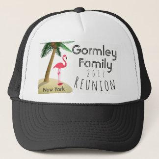 Flamingo Palm Tree Tropical Family Reunion Hat