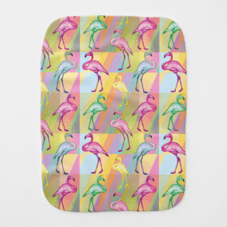 Flamingo Parade Burp Cloth