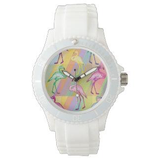 Flamingo Parade Wrist Watch