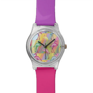 Flamingo Parade Wrist Watch