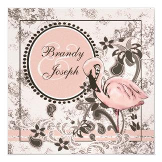 Flamingo Paradise 13 Cm X 13 Cm Square Invitation Card