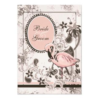Flamingo Paradise Beach Wedding 13 Cm X 18 Cm Invitation Card