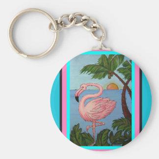 Flamingo Paradise Key Chain