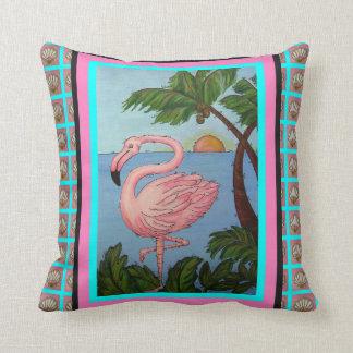 Flamingo Paradise Pillow