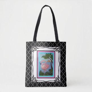 Flamingo Paradise Tote Bag Two
