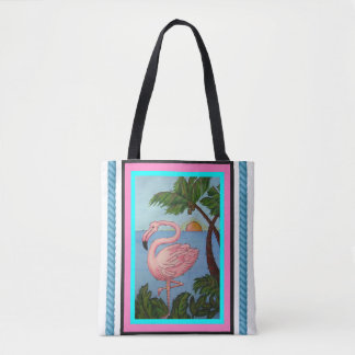 Flamingo Paradise Tote Bage
