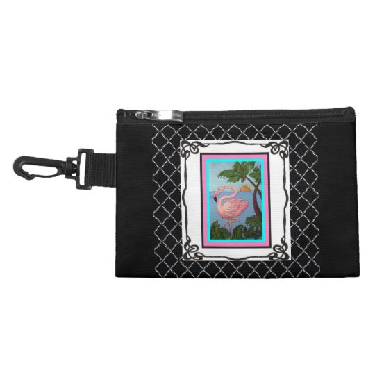 Flamingo Paradise Two Clip on Accessory Bag Two