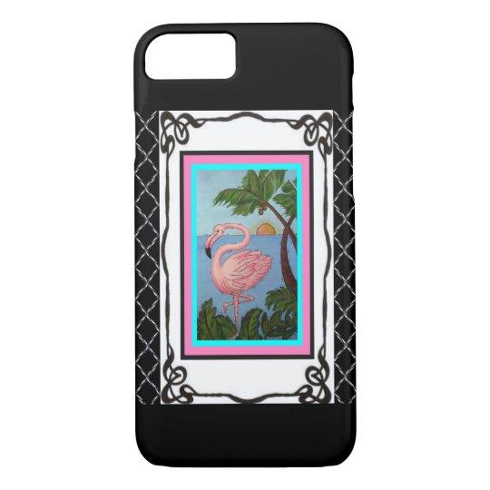 Flamingo Paradise Two Phone Case