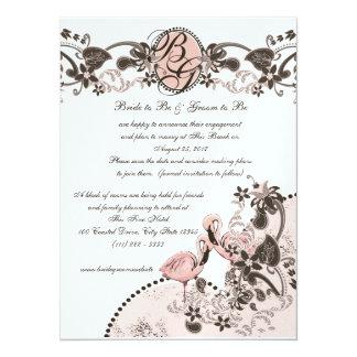 Flamingo Paradise Wedding 14 Cm X 19 Cm Invitation Card
