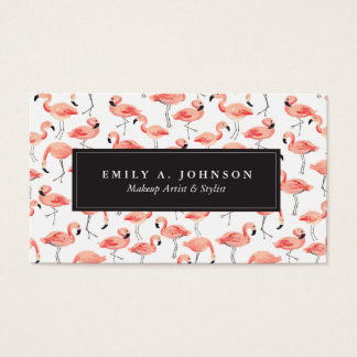 Flamingo Party Business Card