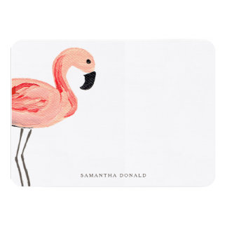 Flamingo Party Card