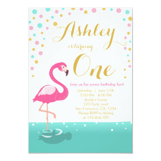 Flamingo party invitation Flamingo birthday invite