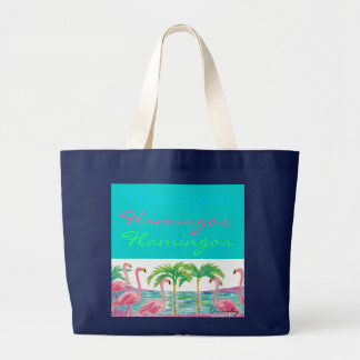 Flamingo Party - large tote