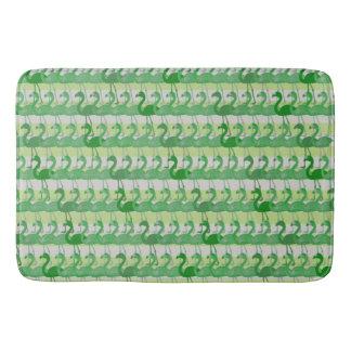 Flamingo Pattern Bath Mat (Green)