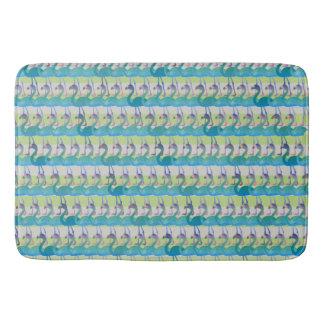 Flamingo Pattern Bath Mat (MultGrn)