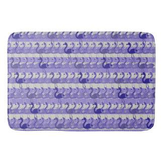 Flamingo Pattern Bath Mat (Purple)