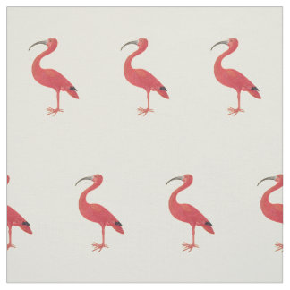 Flamingo Pattern - Fine Art Fabric