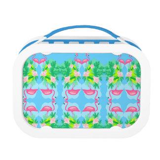 flamingo pattern lunch box
