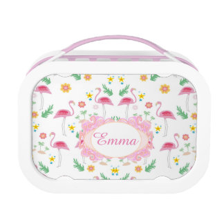 flamingo pattern lunch boxes