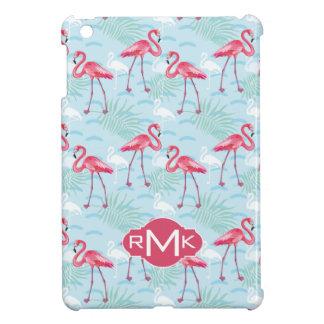 Flamingo Pattern | Monogram iPad Mini Cover