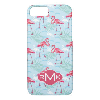 Flamingo Pattern | Monogram iPhone 8/7 Case