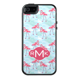 Flamingo Pattern | Monogram OtterBox iPhone 5/5s/SE Case