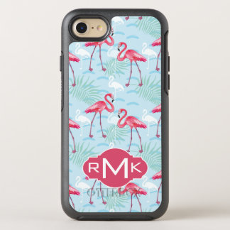 Flamingo Pattern | Monogram OtterBox Symmetry iPhone 8/7 Case