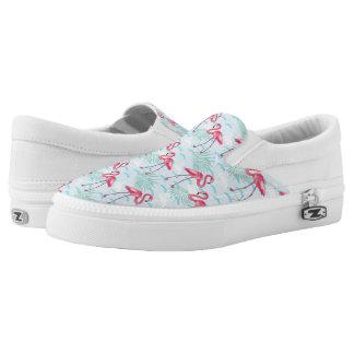 Flamingo Pattern Slip On Shoes