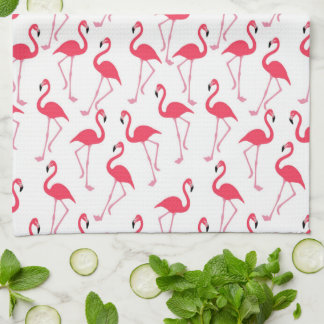 Flamingo Pattern Tea Towel