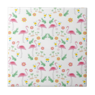 flamingo pattern tile